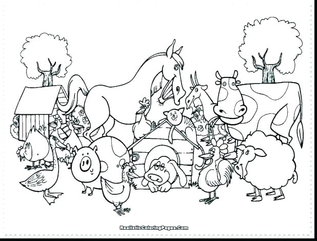 618x470 Farm Coloring Pages Free Baby Farm Animals Coloring Pages Free