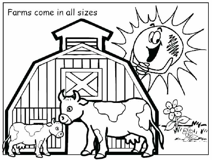 714x541 Farm Coloring Pages Free Printable Animal Coloring Pages Animals