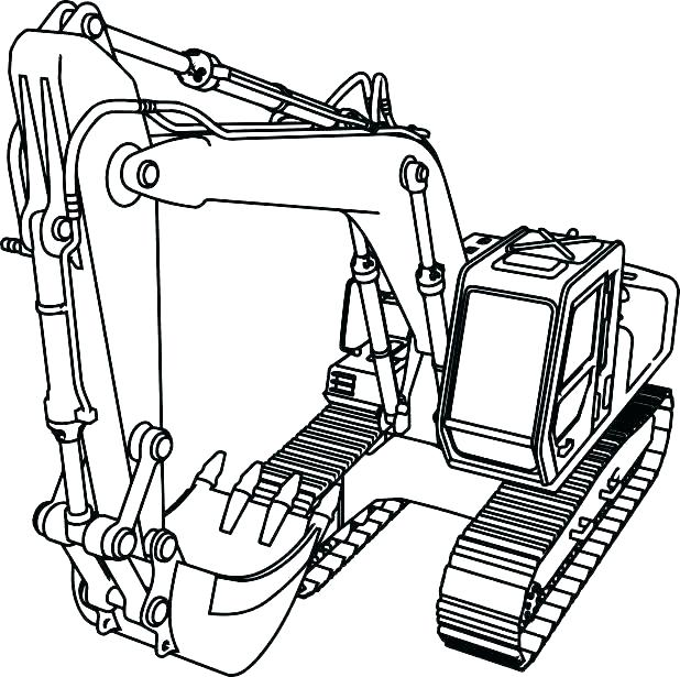 618x615 John Coloring Pages For Kids To Color In Farm Equipment