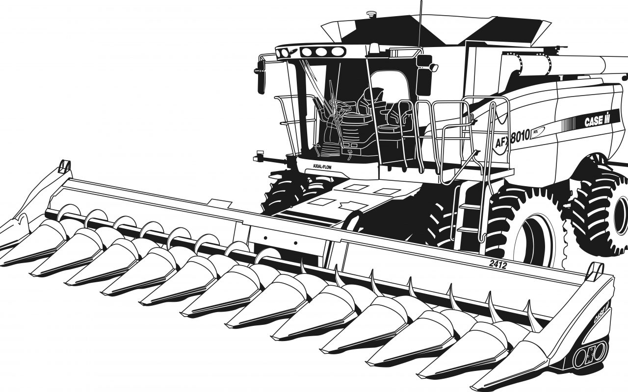 1280x800 John Deere Tractor Coloring Page Of Farm Equipment