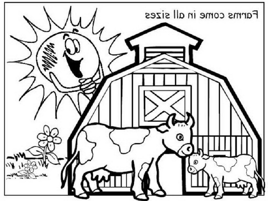 1024x768 Printable Farmyard Coloringges Farmer Farm Colouring Sheets Animal