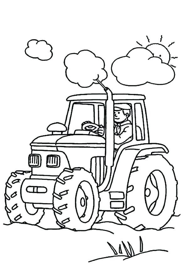 600x857 Tractor Coloring Page Click To See Printable Version Of Modern