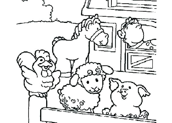 600x429 Farm Animal Colouring Pages Free Kids Coloring Farm Equipment