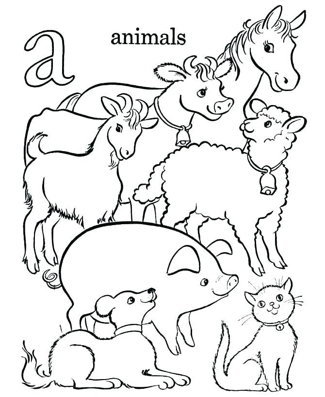 670x820 Farm Color Pages Coloring Pages Farm Animal Alphabet Letters