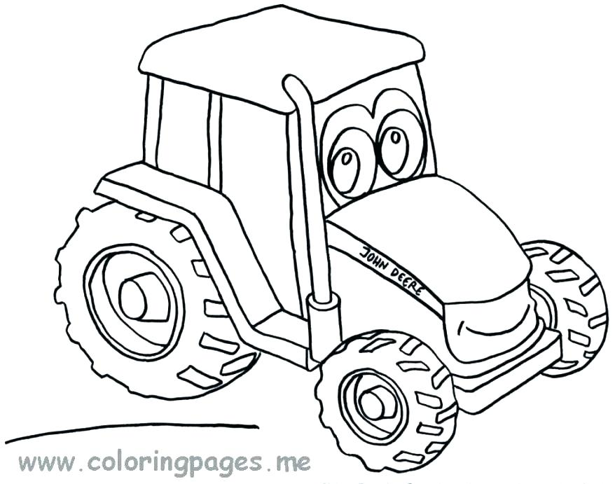878x691 Farm Tractor Coloring Pages Images Page Download Gallery Of Pr