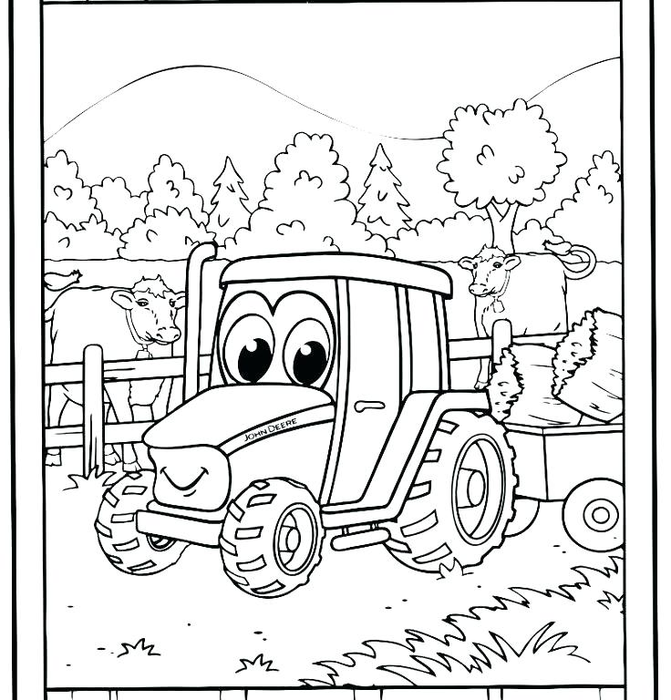 736x768 Free Coloring Pages Tractors Tractor Coloring Pages Images Farm