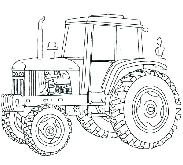 598x540 Free Printable Tractor Coloring Pages Coloring Page Tractor Farm