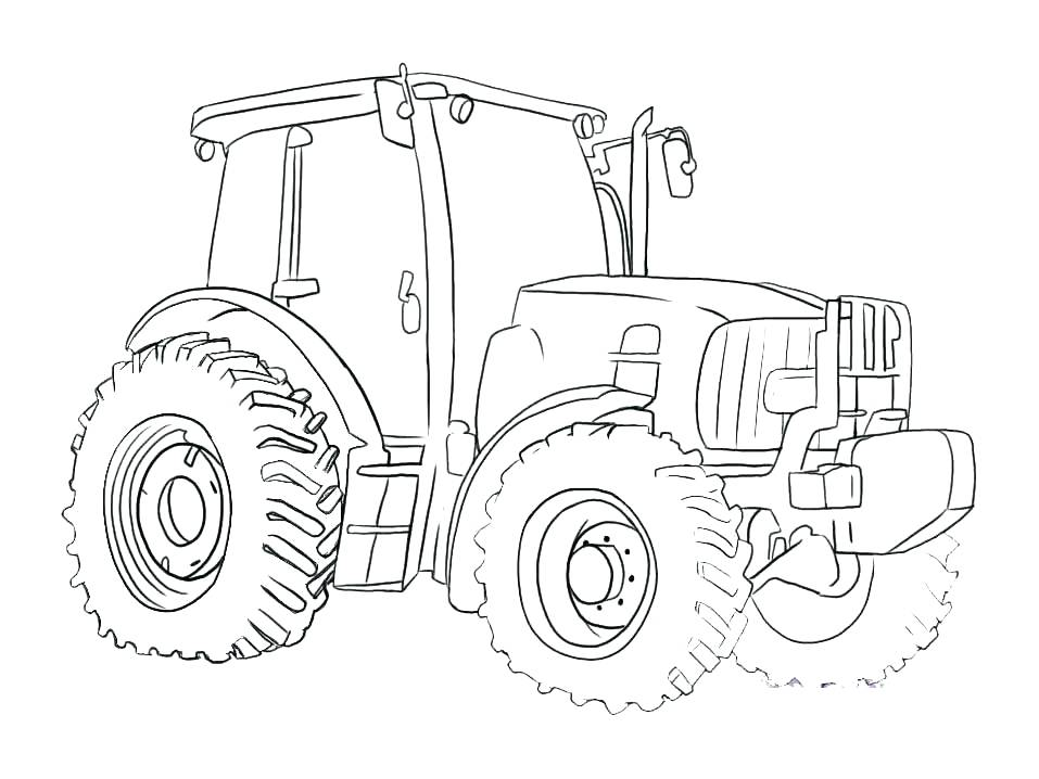 957x718 Tractor Coloring Page John Coloring Page Tractor Pages Free