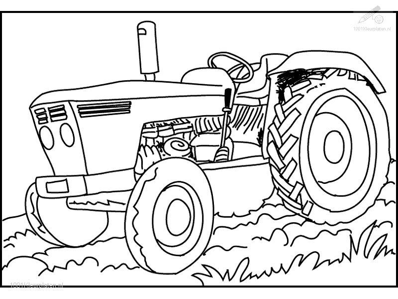 800x600 Tractor Coloring Pages
