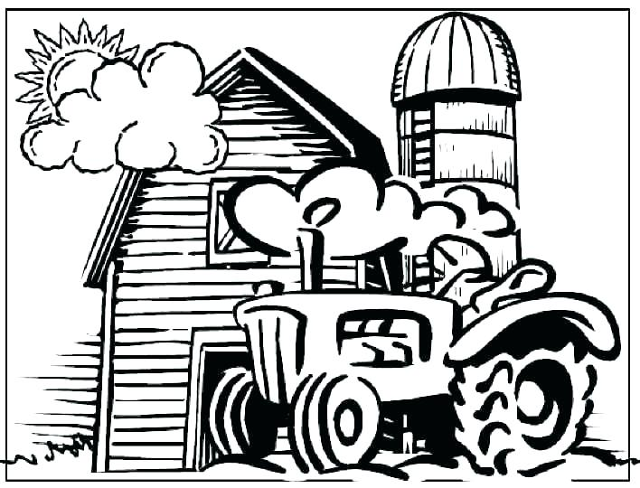 708x540 Tractor Coloring Pages Farm Tractor Colouring Pages Coloring