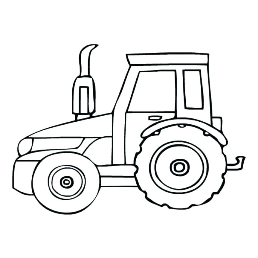 863x863 Tractor Coloring Pages Print Free Farm Tractors High Res Tractor