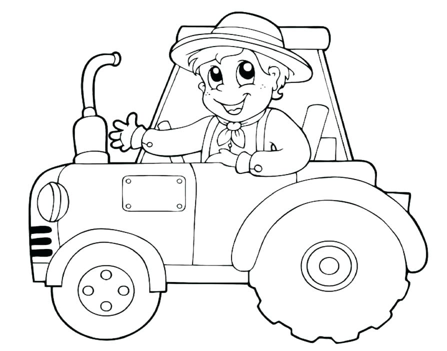 894x702 Tractor Coloring Pages Printable Tractor Coloring Page Tractor