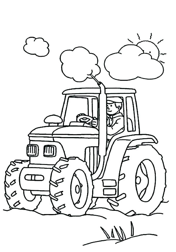 600x857 Tractor Coloring Pages Printable Tractor Coloring Pages Farm