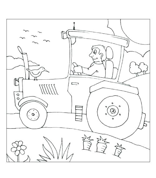 500x572 Farm Tractor Coloring Pages