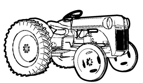 600x348 Farm Tractor Coloring Page