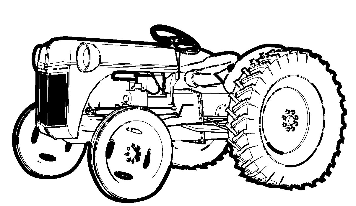 1205x699 Farm Tractor Coloring Page Free Printable Pages Magnificent