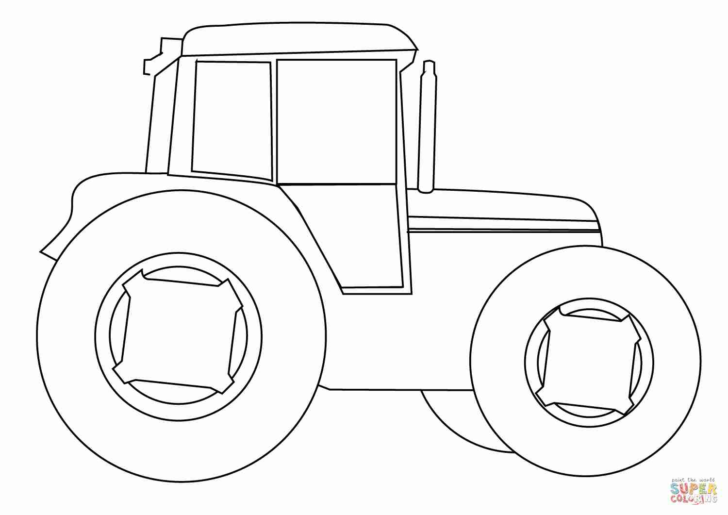 1500x1061 Farm Tractor Coloring Page Free Printable Pages Ripping Tractors