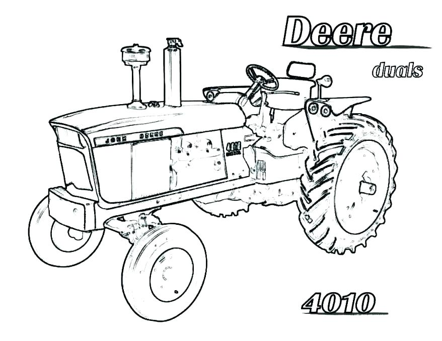 878x678 Coloring Pages Of Tractors John Tractor Coloring Page Free Tractor