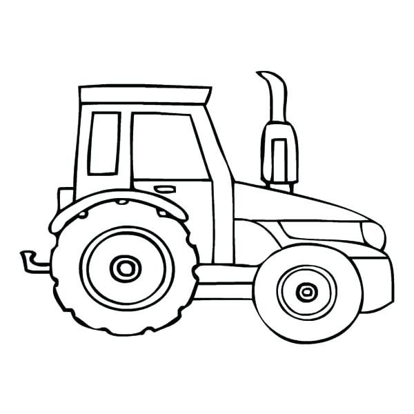 600x600 Coloring Pages Of Tractors Parking Tractor Coloring Page Coloring