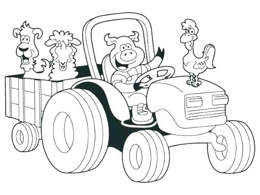 510x383 Coloring Pages Of Tractors Tractor Coloring Pages Coloring Pages