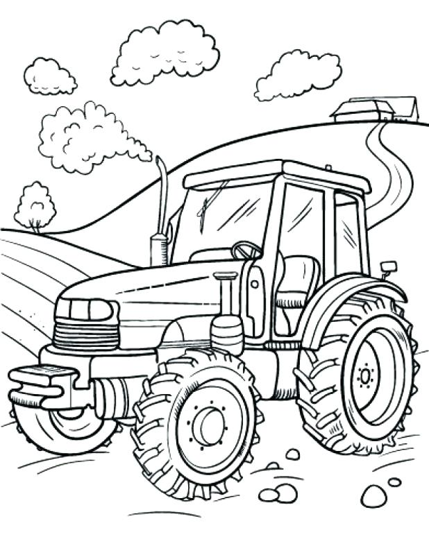 618x800 Coloring Pages Of Tractors Tractor Coloring Pages Printable Me