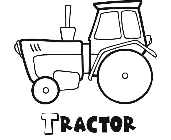 600x492 Coloring Pages Of Tractors Tractor Trailer Coloring Pages Tractors