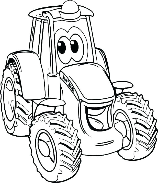 618x714 Coloring Pages Tractors Coloring Pages Tractor Coloring Pages