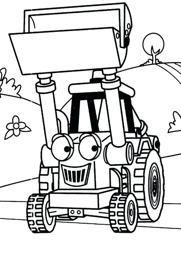 600x842 Coloring Pages Tractors Digger Muck The Tractor In Digger Coloring