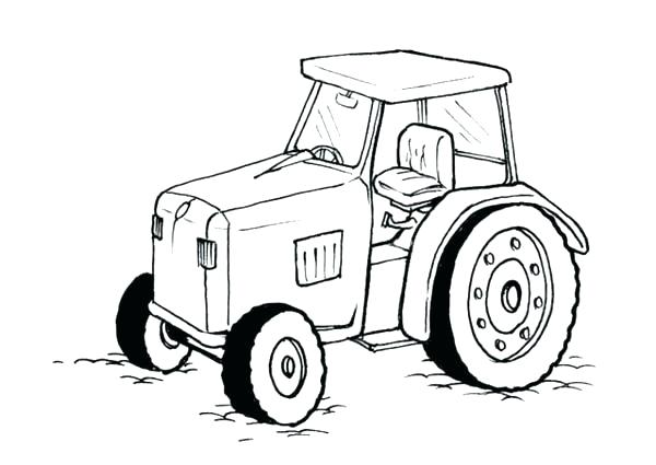 600x425 Coloring Page Tractor Farm Tractor Coloring Page Free Printable