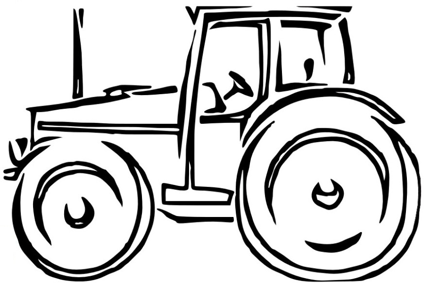 901x583 Tractor Coloring Pages