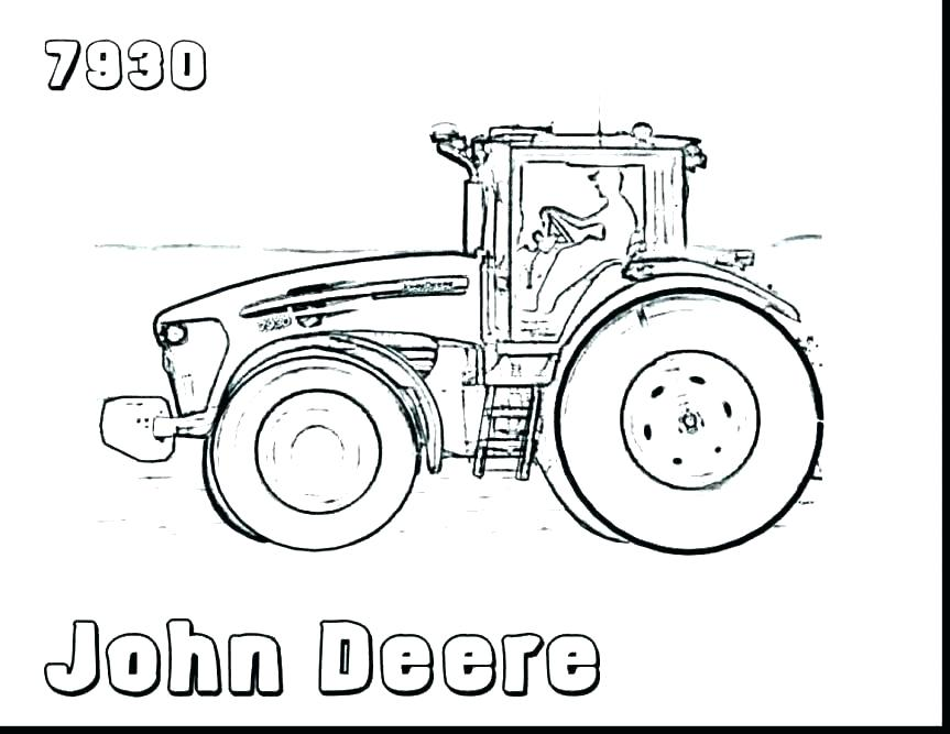 863x667 Coloring Pages Of Tractors