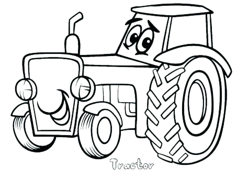 1024x730 Coloring Pages Farmall Tractors Simple Tractor Coloring Page