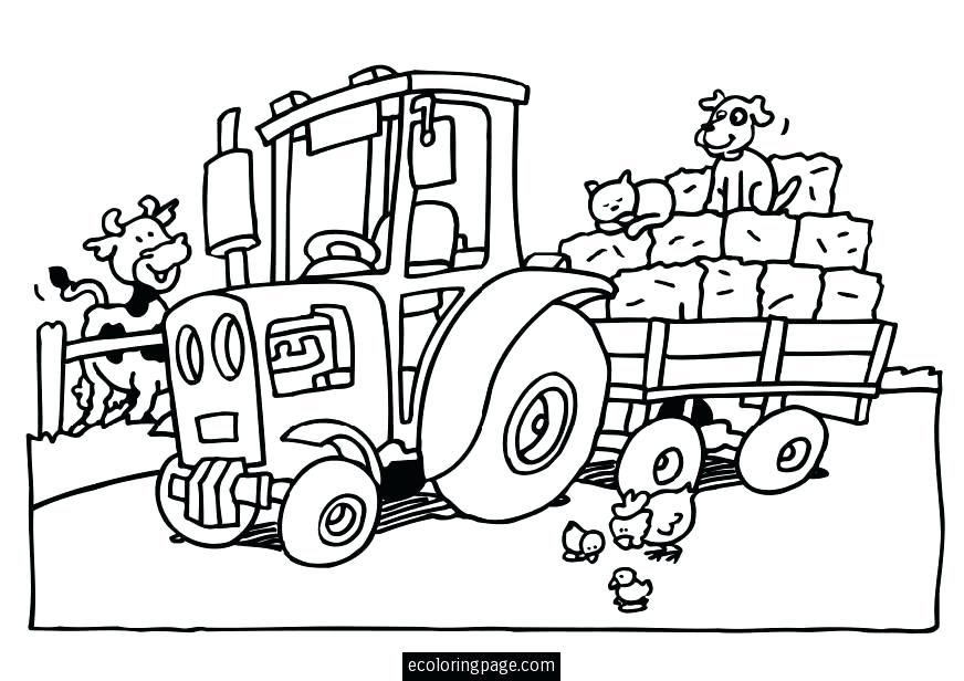 872x616 Coloring Pages Farmall Tractors Tractor And Trailer Toy X Google
