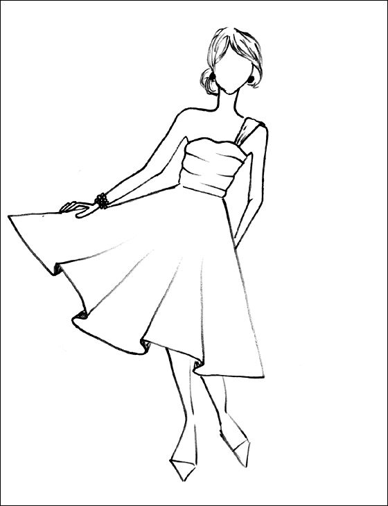 560x730 Dress Coloring Pages To Print, Dress Coloring Pages To Download