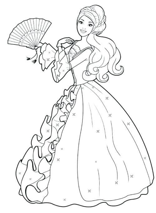 500x680 Barbie Fashion Coloring Pages Trend Barbie Coloring Pages In Line