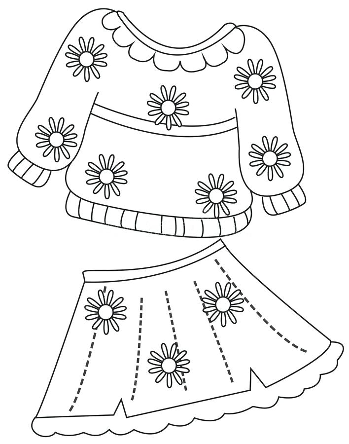 708x900 Clothes Coloring Page Barbie Fashion Clothes Coloring Pages