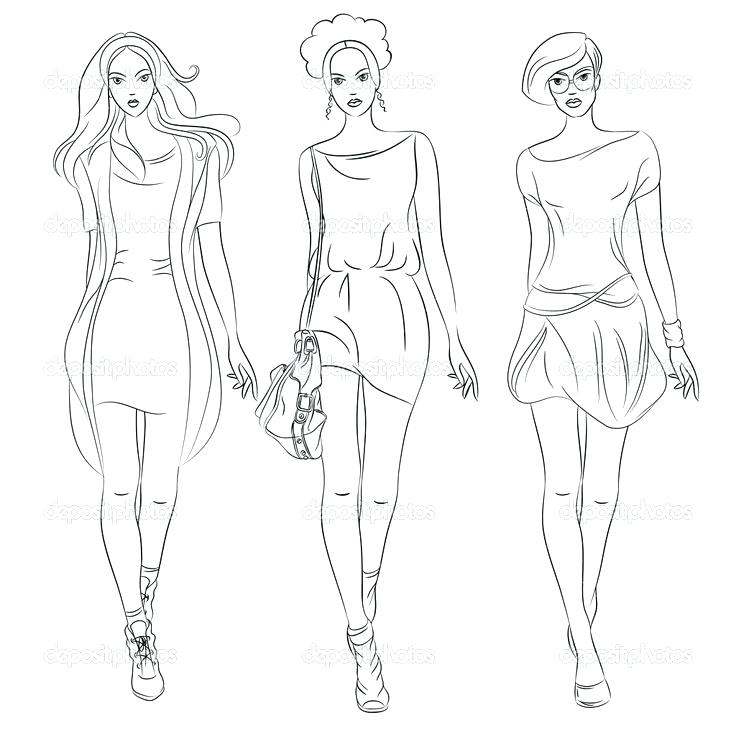 736x736 Coloring Pages Fashion Fashion Model Coloring Pages Shining