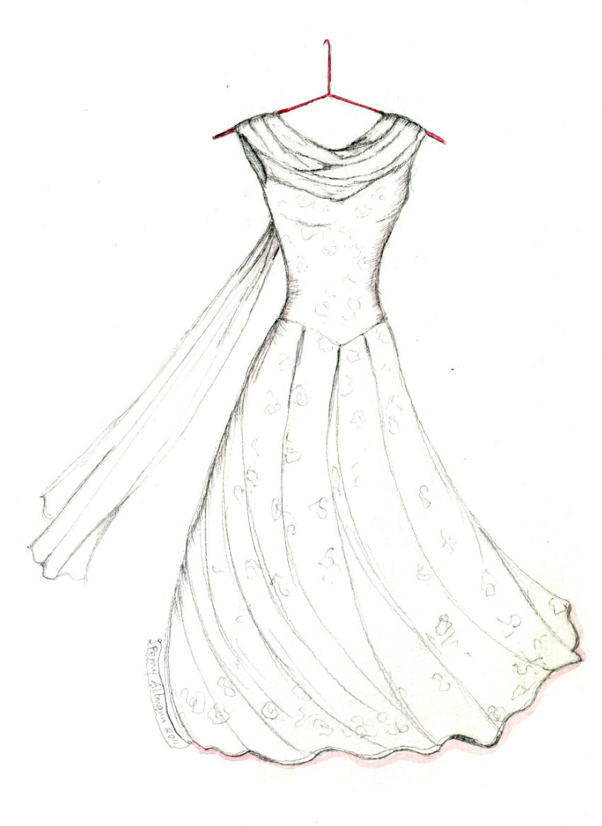 844x1158 Dress Coloring Pages