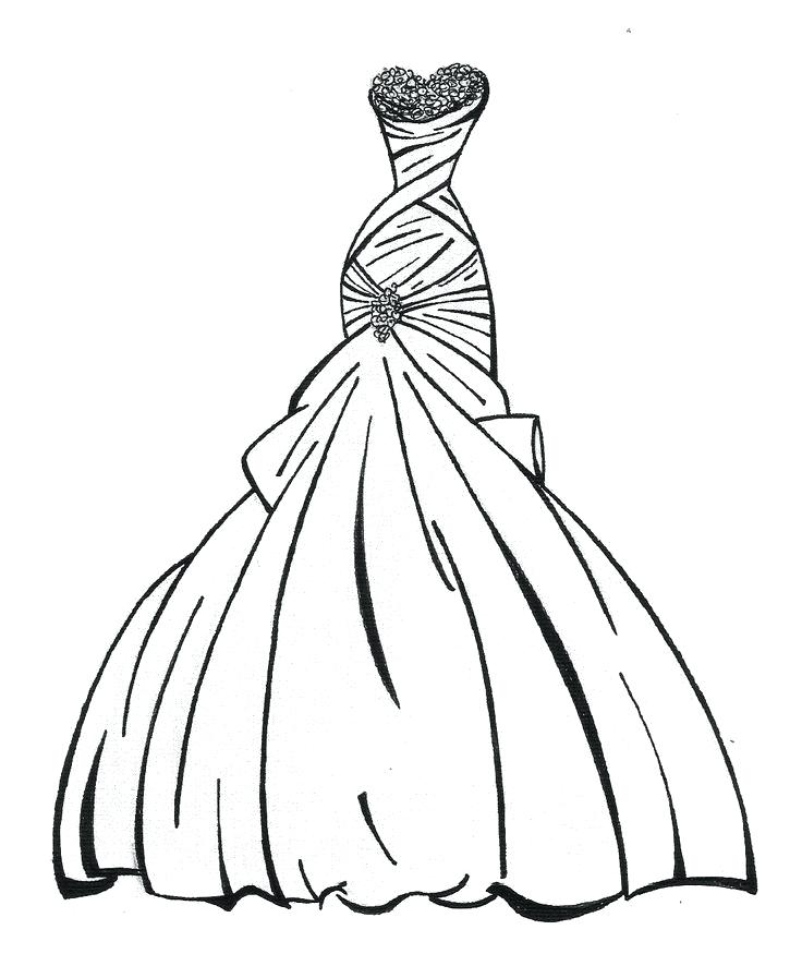 736x886 Dresses Coloring Pages Doll Dress Designing Doll Dress Coloring