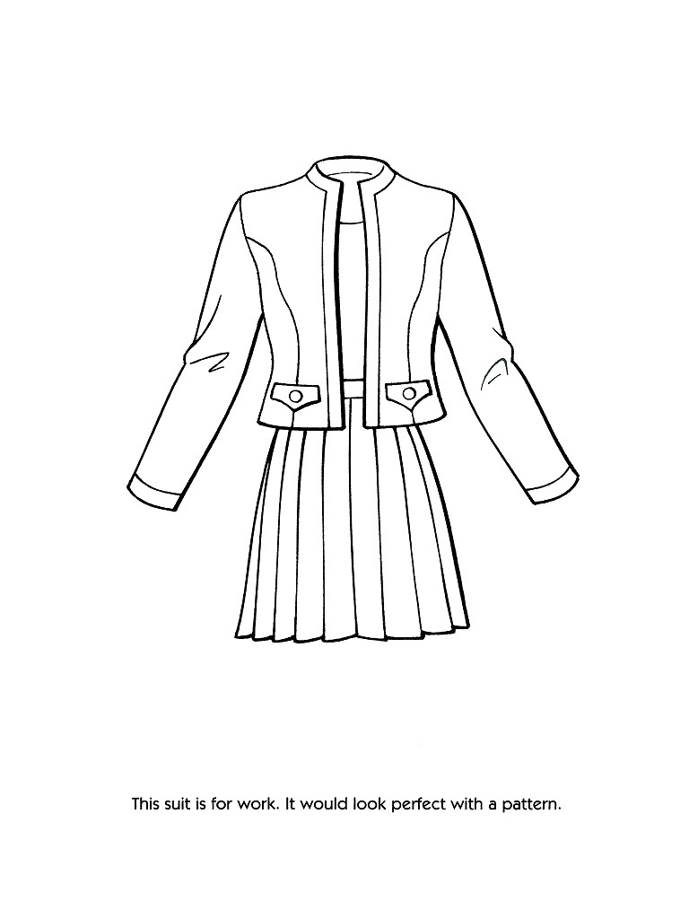 768x1024 Fashion Coloring Pages