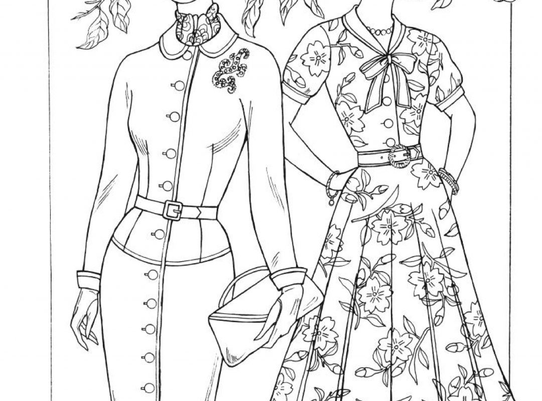 1080x800 Free Printable Fashion Coloring Pages For Adults Mode Adult Barbie