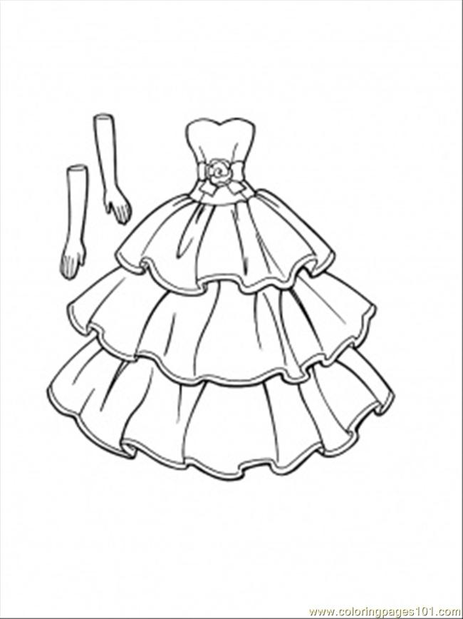 650x868 This Dress Goes With Gloves Coloring Page