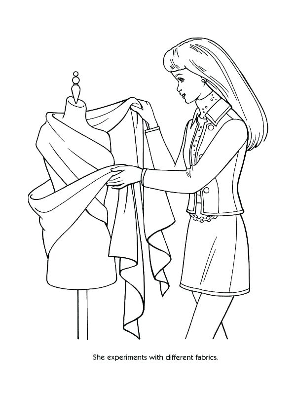 600x800 Barbie Fashion Clothes Coloring Pages Printable Coloring Fashion