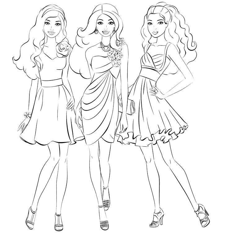 742x756 Barbie Fashion Coloring Pages Barbie Fashion Coloring Pages