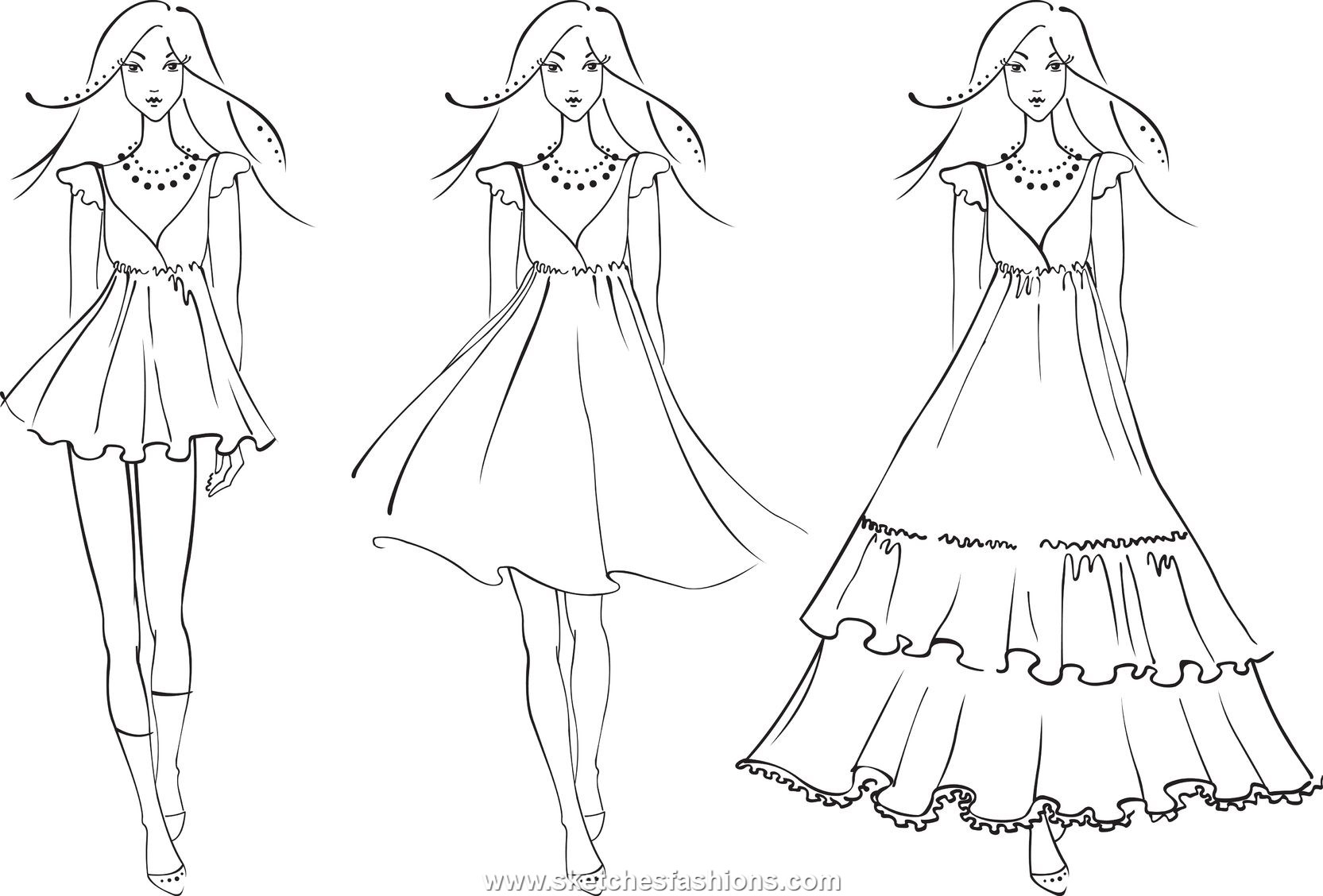 1665x1128 Fashion Coloring Pages Easy Fashion Coloring Page For Kids