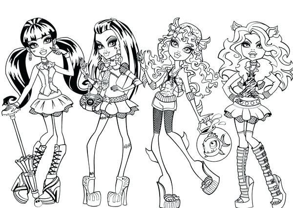 600x427 Fashion Coloring Pages Fashion Show In Monster High Coloring Page