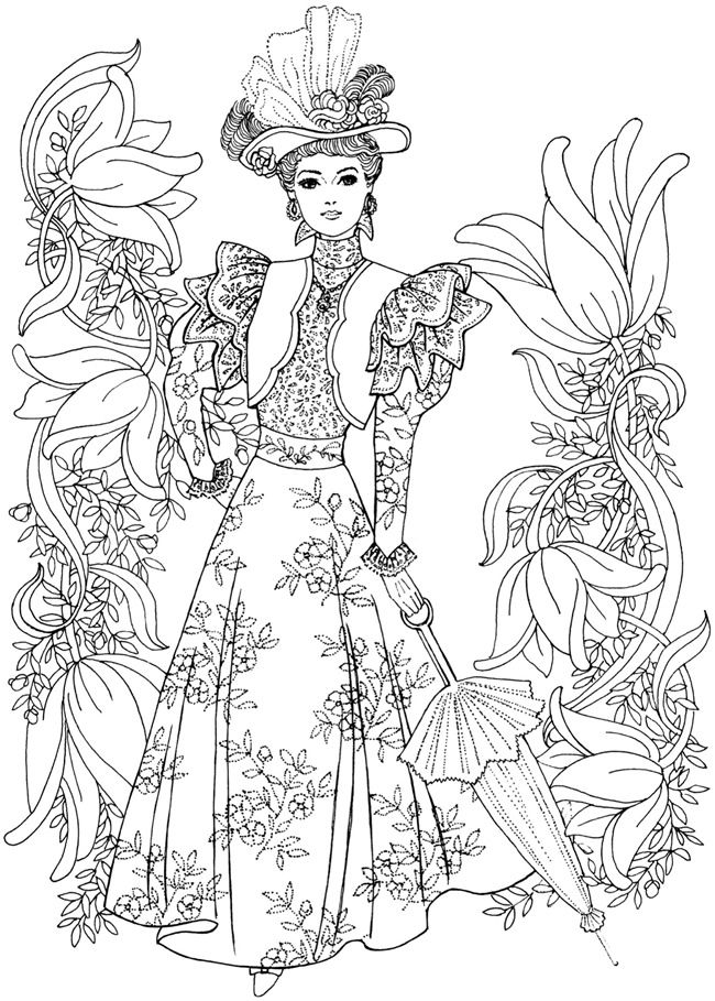 650x909 Best Adult Colouring Fashion Images On Coloring