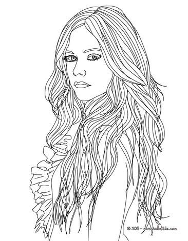 366x470 Avril Lavigne Fashion Designer Coloring Pages