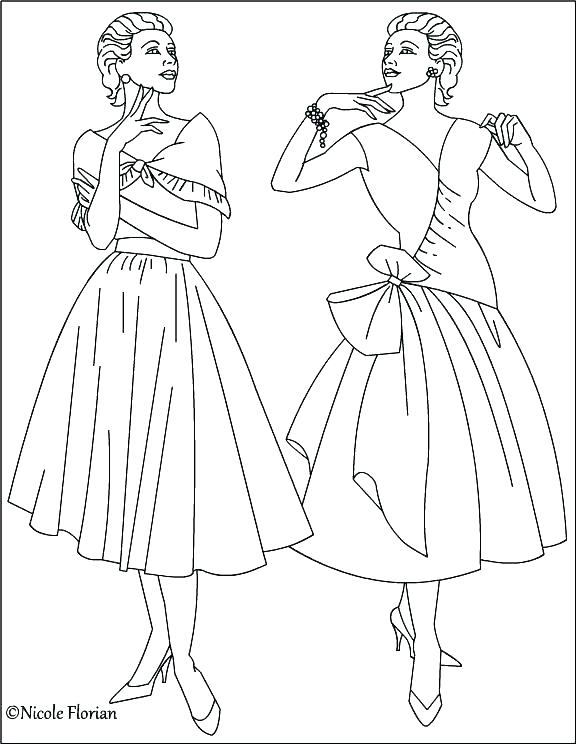 576x744 Coloring Pages Fashion Barbie Fashion Coloring Pages My Favorite