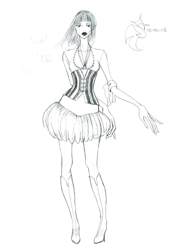 736x960 Fashion Coloring Pages Barbie Fashion Coloring Pages Fashion